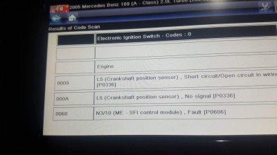Suspected Crankshaft Position Sensor fault turned ugly | MBClub UK
