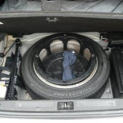 spare wheel and tool kit