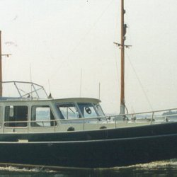 My Kempala Kotter, a very well built boat, 22 tonnes of old style. Built for the owner of the yard as a prototype, he gave the keys to the business to