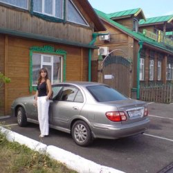My wife and Nissan at Kostroma, 2010.  Trusty JDM Nissan now sold. Gone but definitely not forgotten!