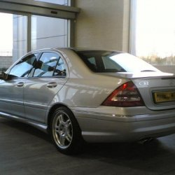 C32 AMG awaiting collection from the main dealer