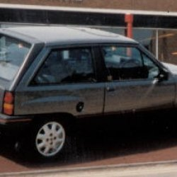 The first Dazzler in 1993 - it's a 1987 Vauxhall Nova 1.3 SR