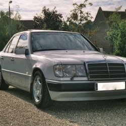 260E My first Merc, a brilliant introduction, eventually lowered with new springs all round. H Reg and still running well. Now over 140K and looks goo