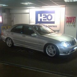 C32 AMG just washed, not bad for an oldie