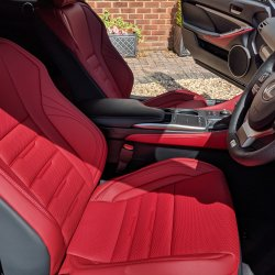 Flare Red Leather, heated and ventilated
