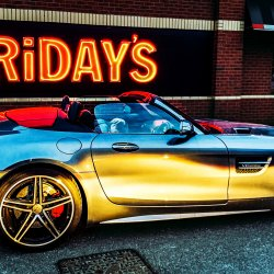 AMG GT C at TGi Fridays