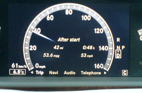 S Class Best MPG. Does it look like a 50mpg car??!